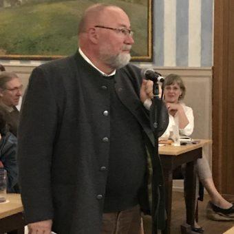 Live von der Bürgerversammlung: Dr. Herrmann Will
