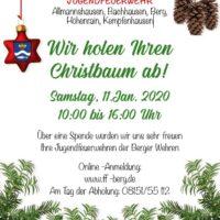 Christbaumabholung in der Gemeinde Berg