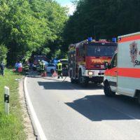 Berger Holz zwei Stunden gesperrt - ein Unfall mit glücklichem Ausgang