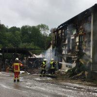 Verheerender Brand im Manthal