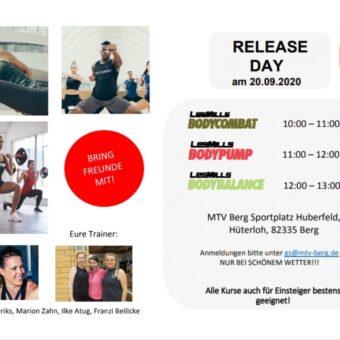 Neuer Les Mills Release-day beim MTV Berg