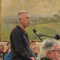 Live von der Bürgerversammlung: Peter Gall aus Bachhauser Wies