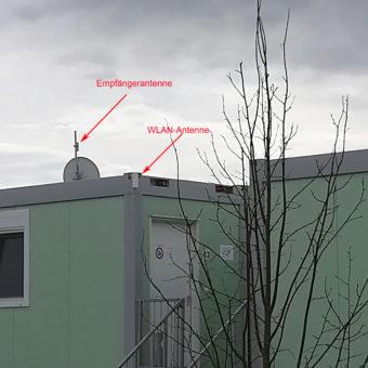 Asyl in Berg: Endlich WLAN für die Container
