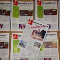 Es ist Donnerstag: Das Berger Blatt, die 2. Ausgabe ist erschienen, die 1. kann heruntergeladen werden