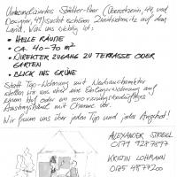 Kleinanzeige: Wohnung oder Häusl gesucht