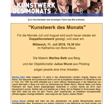 """Julius Wurst und Marlies Beth heute beim """"Kunstwerk des Monats"""""""