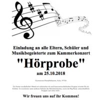 """Einladung zur """"Hörprobe"""" im LSH Kempfenhausen"""