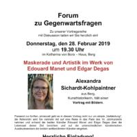 Forum zu Gegenwartsfragen: Vortrag zu Manet und Degas