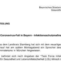 Hereinbrechende Nachricht: Corona-Virus im Landkreis Starnberg