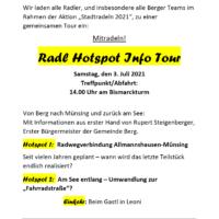 """Radl Hotspot Info Tour"" mit dem Bürgermeister"