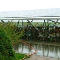Solaranlage im Regenguss