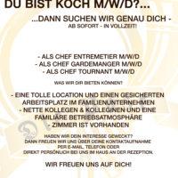 Kleinanzeige: Koch/Köchin (m/w/d) für die Post, Aufkirchen, gesucht