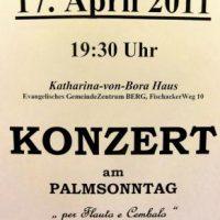 Konzert am Palmsonntag