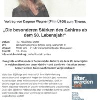 Vortrag von Dagmar Wagner: Die besonderen Stärken des Gehirns ab dem 50. Lebensjahr