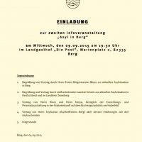 Asyl in Berg: 2. Informationsveranstaltung