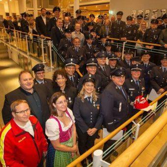 … und noch eine Gratulation – Jubilare bei der Feuerwehr!