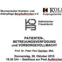 Prof. Dr. Peter Paul Gantzer spricht in Aufkirchen