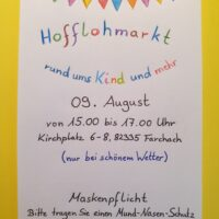 Hofflohmarkt in Farchach am 09. August