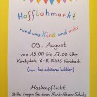 Hofflohmarkt in Farchach am 09. August