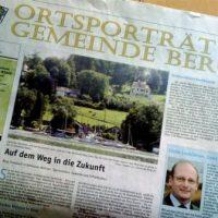 "Links der Bürgermeister - rechts Esoterik. Das ""Ortsporträt Gemeinde Berg"""