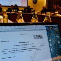 Halb digital: die 15 Sitzung des Berger Gemeinderates