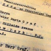 Zu Besuch bei Oskar Maria Graf in New York