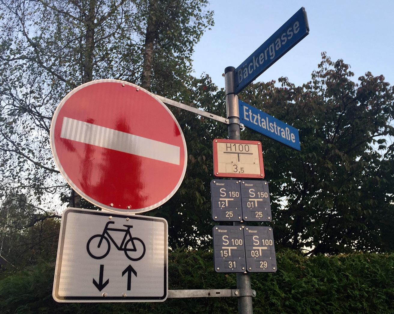 Radfahrer Bäckergasse