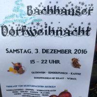 Bachhauser Dorfweihnacht 2016