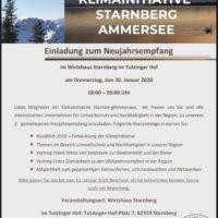 Einladung zum Neujahrsempfang der Klimainitiative StarnbergAmmersee