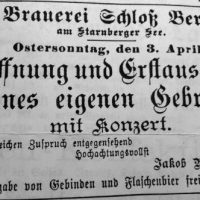 110 Jahre Brauerei Schloss Berg