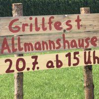 Auch Samstag: Grillfest in Allmannshausen