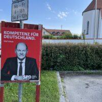 Die Berger Wahlplakate: heute bitte lächeln - die Kandidaten und die Kandidatin