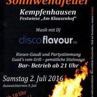 Sonnwendfeuer in Kempfenhausen