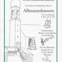 Christkindlmarkt in Allmannshausen
