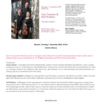 Sonntag: Bach-Konzert im Marstall