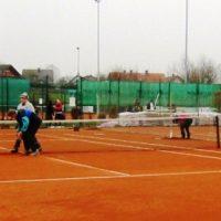 Beginn der Tennissaison in Berg