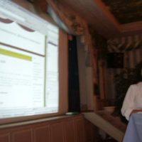 Elke Link beim live-bloggen in der Post