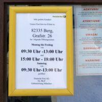 Hereingeschickte Nachrichten: Berger Post zieht um!