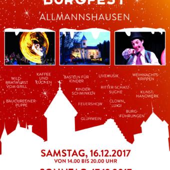 Weihnachtliches Burgfest in Allmannshausen