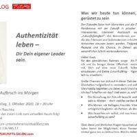Zukunfts-Salon mit Susanne Plaschka: Authentizität leben