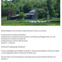 Idyllisches Haus in Aufhausen zu vermieten
