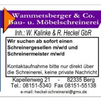 Stellen frei: Schreinerei und Gaststätte in Berg suchen Mitarbeiter*innen