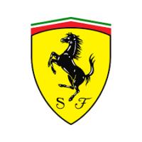 Ein Ferrari in Berg