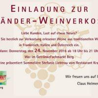 Einladung zur Dreiländer-Weinverkostung
