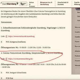Doppelt Negativ: Starnberger Schnelltests in München nicht anerkannt